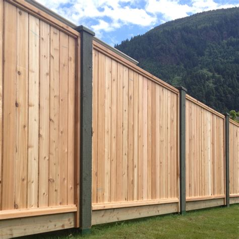 solid cedar fence panels big red cedar