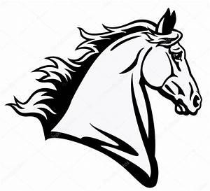 Pferdekopf Schwarz Weiß : pferdekopf schwarz wei stockvektor insima 13706706 ~ Watch28wear.com Haus und Dekorationen