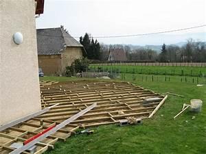 Terrasse Bois Sur Terre : pose terrasse bois sur terre affordable terrasse ~ Dailycaller-alerts.com Idées de Décoration
