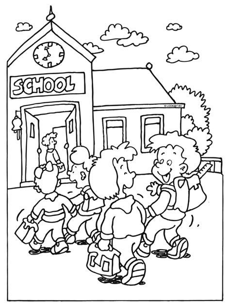 Kleurplaat Ik Ga Naar De Basisschool by Kleurplaat Kinderen Gaan Weer Naar School Kleurplaten Nl
