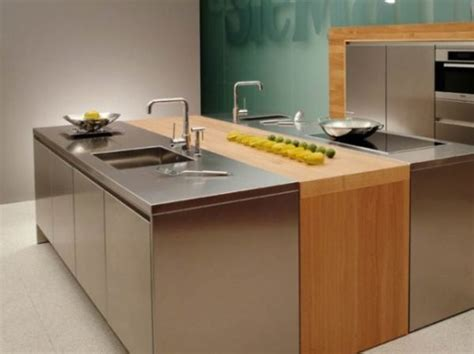 stainless kitchen island 10 beautiful stainless steel kitchen island designs