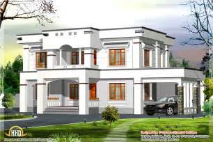 Flat Houses Designs Pictures by Stylish Flat Roof Home Design 2400 Sq Ft Kerala Home