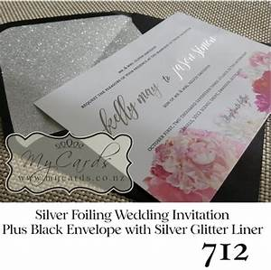 silver foil wedding invitation design 712 mycards With foil blocked wedding invitations