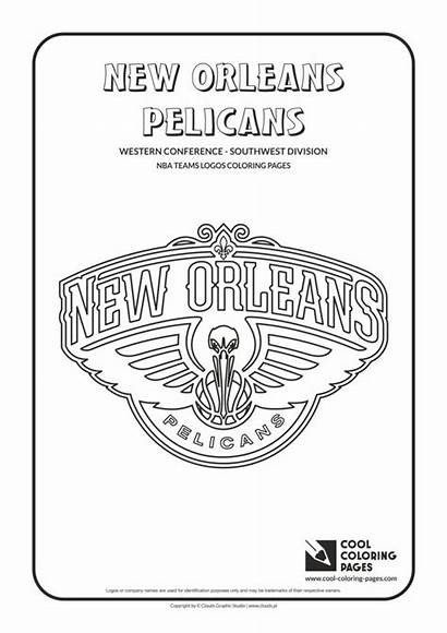 Coloring Nba Pages Cool Logos Basketball Orleans