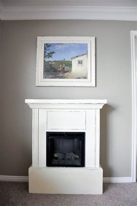 electric fireplace makeover diy home pinterest
