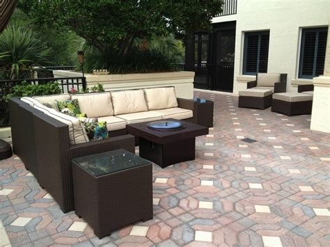 patio furniture fire pit table set patio furniture set with gas fire pit table traditional