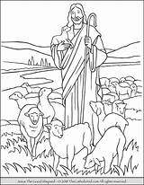 Jesus Coloring Shepherd Shepard Pages Printables Colouring Thecatholickid Catholic Children Printable Sheets Activities sketch template