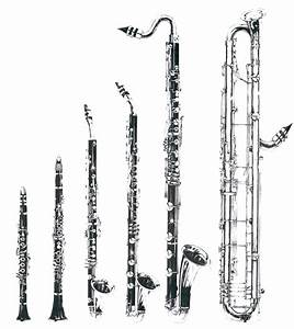 A huge picture of the clarinet family. From left: E-flat ...