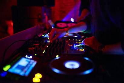 Dj Mixing Consoles Turntables Stage Disc Concert
