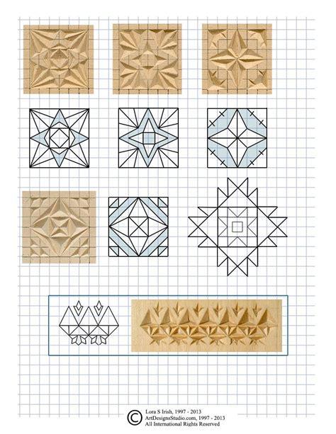 chip carving pattern  lora irish wood carving
