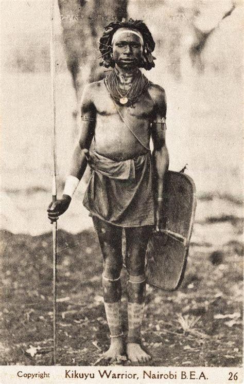 kikuyu warrior kenia kikuyu africa people east