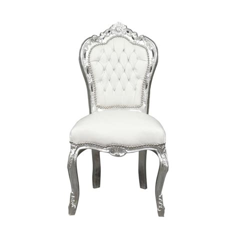 baroque chair white ls bronze statue