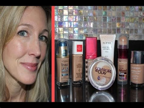 Best & Worst ~ Testing 7 Drugstore Foundations for Mature