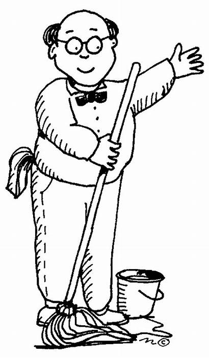 Janitor Clipart Clip Custodian Drawing Janitors Janitorial