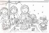 Holiday Sketch Refugee Christmas Drawing Coloring Pages Postcard Template sketch template