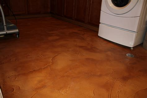 flooring for basement flood proof your basement floor with decorative concrete 171 seattle surfaces