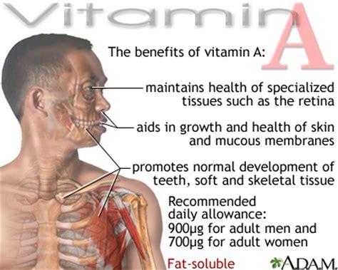 vitamin  benefit medlineplus medical encyclopedia image