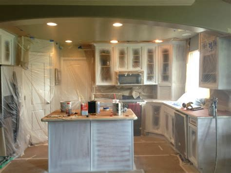 Painting New Cabinets by White Painted Kitchen Cabinet Reveal With Before And After