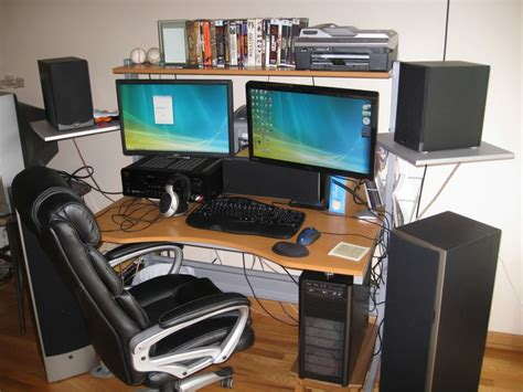 dual monitor office desk gaming computer desk for multiple monitors decorative desk