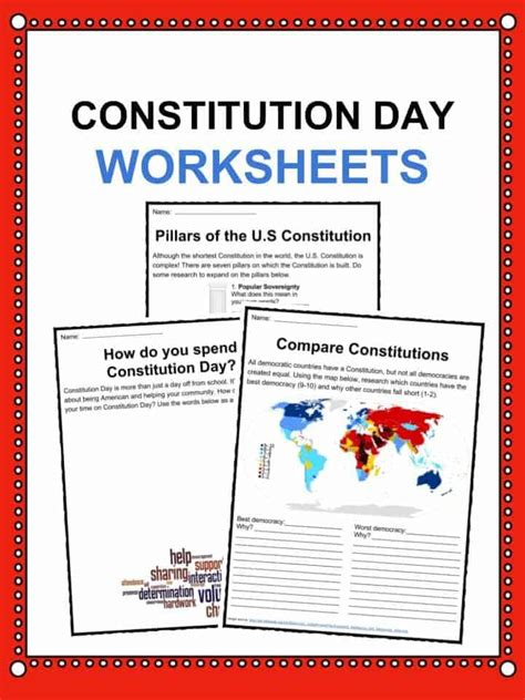 Constitution Day (citizens Day) Facts, Worksheets & Information For Kids