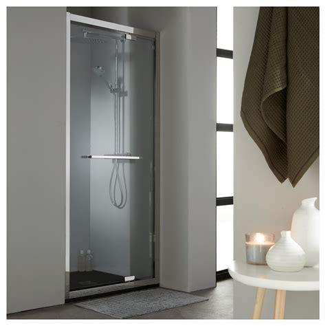 vente de porte de en verre pivotante 90 cm en inox