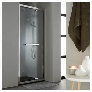 Porte Douche 90 : vente de porte de douche en verre pivotante 90 cm en inox planetebain ~ Nature-et-papiers.com Idées de Décoration
