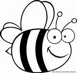 Bee Bumble Coloring Pages Cute Bees Cartoon sketch template