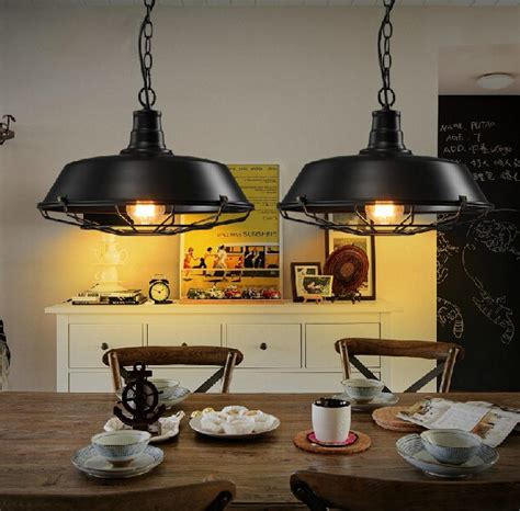 Vintage Dining Room Light Fixture by Aliexpress Buy Loft Style Iron Retro Pendant