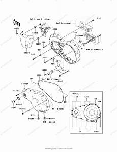 Kawasaki Motorcycle 2007 Oem Parts Diagram For Left Engine
