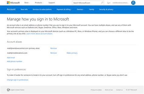 how to change the email linked to your xbox live gamertag