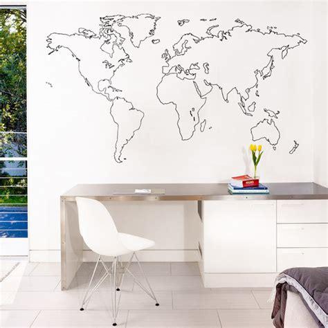vinyl mural cuisine sticker mural carte du monde decoration des murs des bureaux kollori com