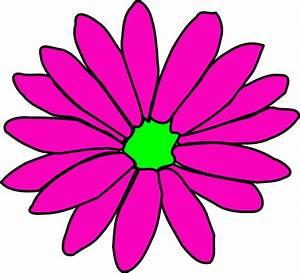 Pink And Green Daisy Clip Art at Clker.com - vector clip ...