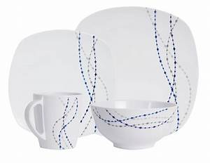 Geschirr Eckig Weiß : melamin geschirr line weiss blau eckig weingl ser wassergl ser aus polycarbonat melamin ~ Orissabook.com Haus und Dekorationen