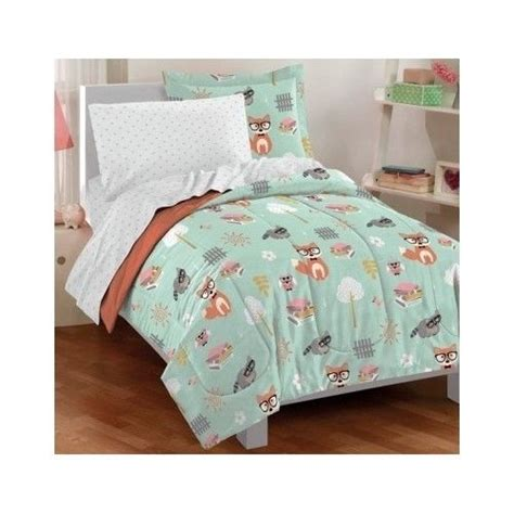 fox comforter set forest bedding set nature comforter sheets fox