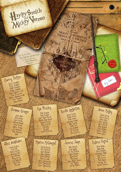 harry potter table l 10 x wizard witch hat place cards in white halloween