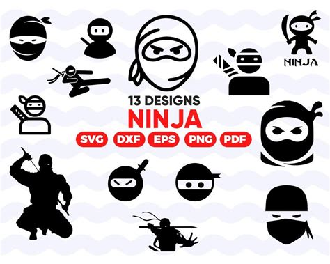 Ninja Svg Bundle Ninja Svg File For Cricut Chinese Star