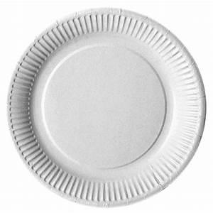 Assiette Plate Blanche : assiette plate en carton blanc ~ Teatrodelosmanantiales.com Idées de Décoration