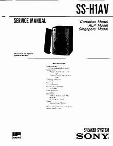 Sony Dhc-md1 Service Manual