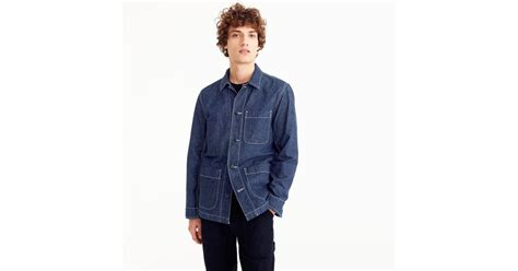 J.crew Wallace & Barnes Chore Jacket In Denim In Blue For