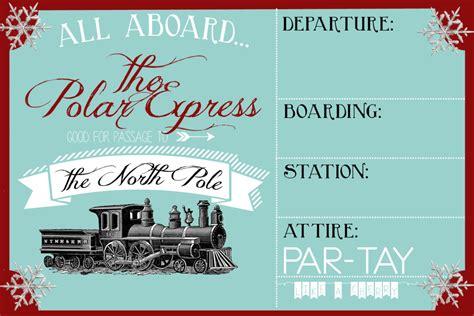 polar express party invitation party   cherry