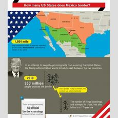 How Many Us States Does Mexico Border? Answers