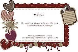 remerciements invitation mariage cartes d 39 invitation ou remerciement mariage 1