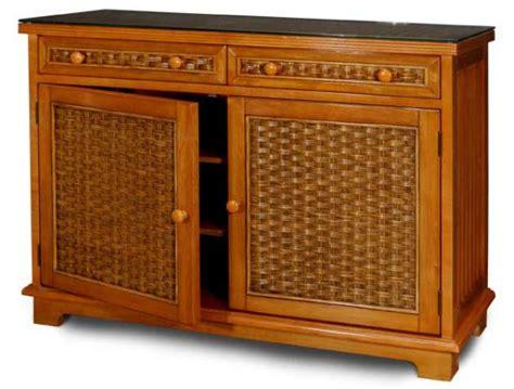 Wicker Credenza - credenza wicker cottage cabinet