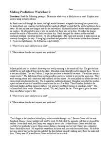 making predictions 2 worksheet for 3rd 4th grade lesson planet