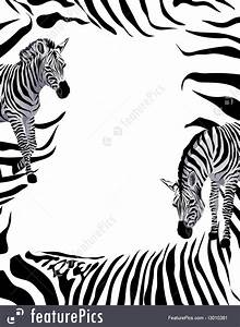 Word Page Border Templates Illustration Of Zebra Frame