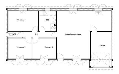 chaise bureau architecte plan de maison de 90m2 cuisine naturelle