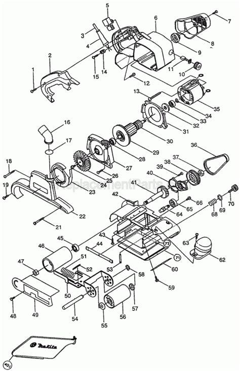 Belt Sander Parts Diagram - Free Wiring Diagram