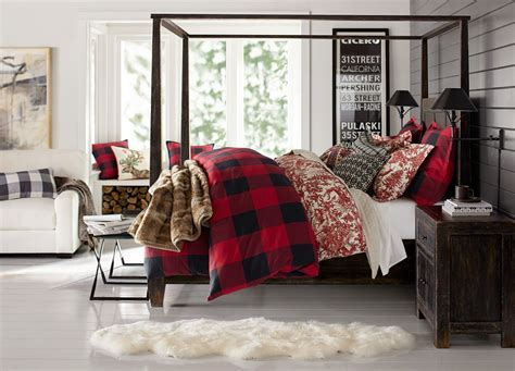 Pottery barn bedroom bedroom contemporary with plaid