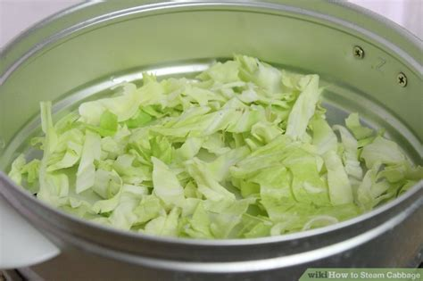 how to steam cabbage with pictures wikihow