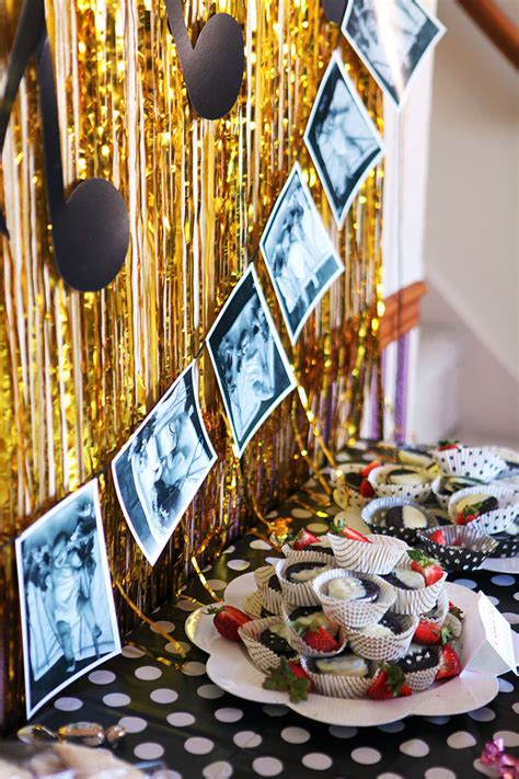 Black, White And Gold Musicthemed First Birthday Part